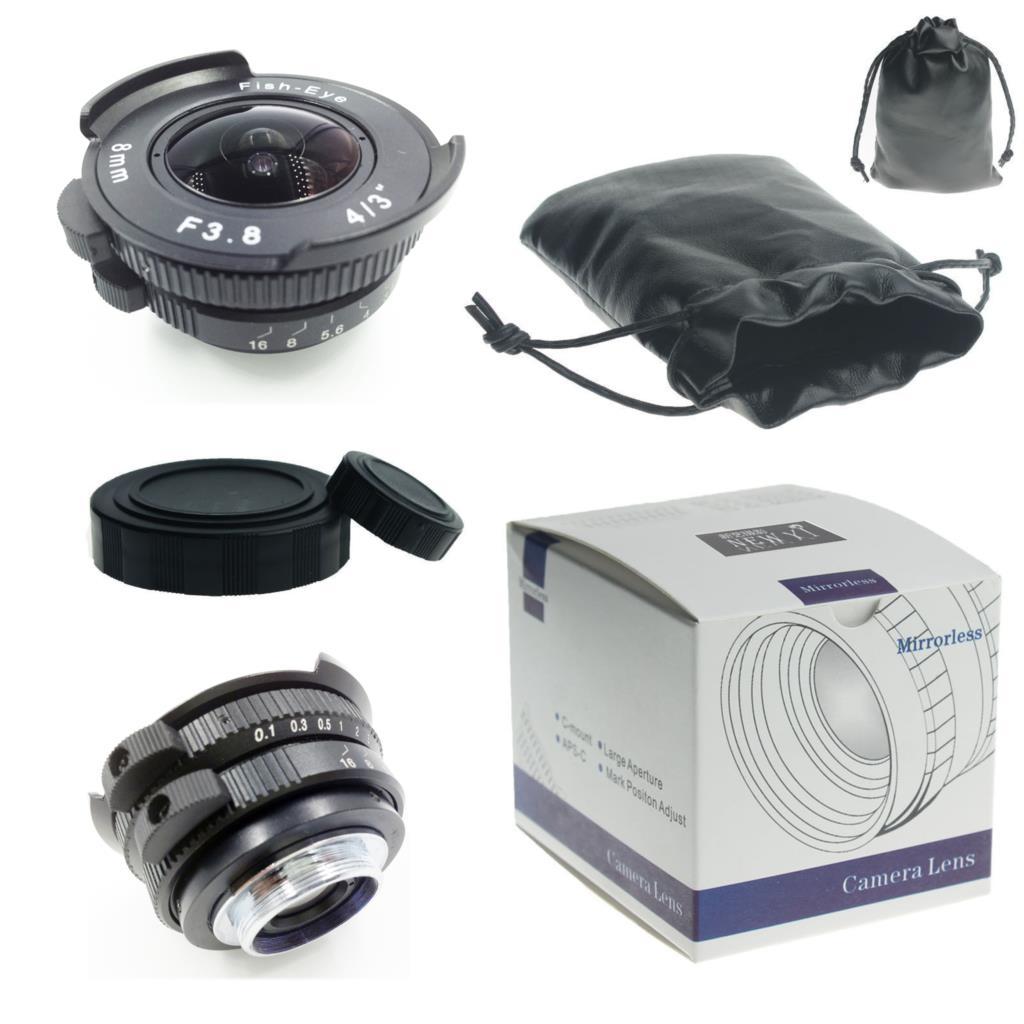 8mm F3 8 CCTV TV Movie c mount Wide Angle Fisheye Lens for Sony NEX3 5T