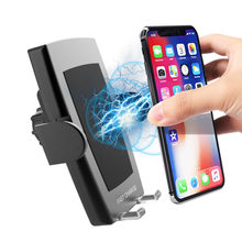 Newest Fast Wireless Car Charger Smart Phone Car Mount 360 Air Vent Holder Auto-Clamp Automatic Wireless Charger(China)