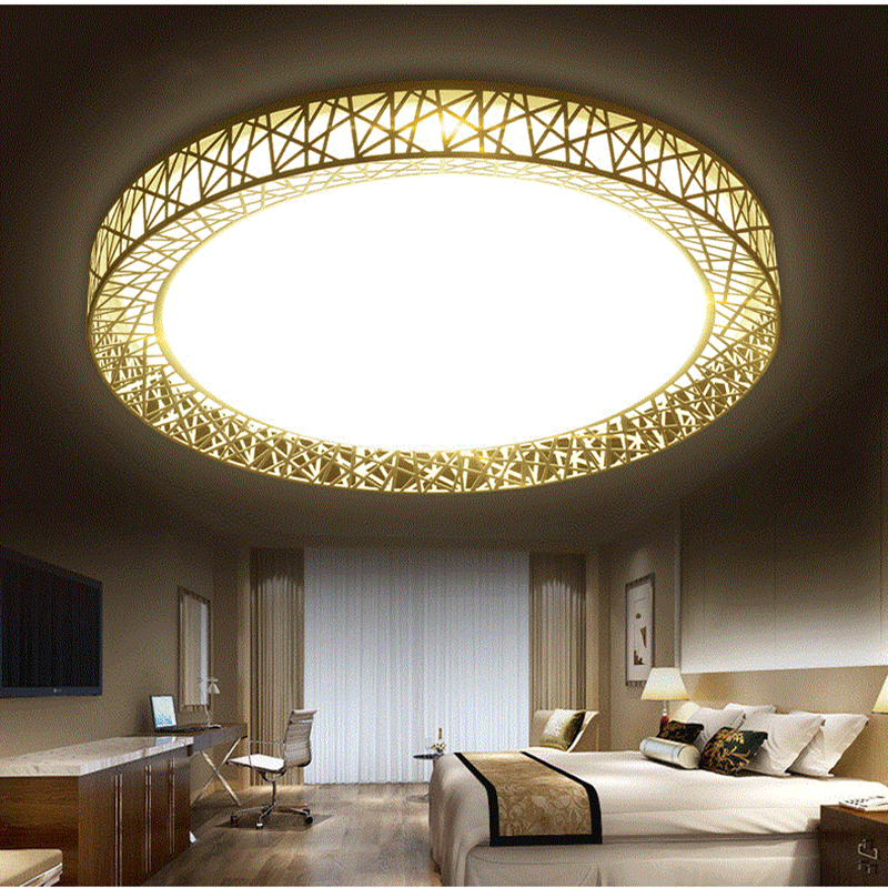 Led Lamp Led Ceiling Light Round 24W 36W 48W AC85~265V Bedroom Ceiling Lamp Modern indoor Brief Dining Room,Free Shipping creative star moon lampshade ceiling light 85 265v 24w led child baby room ceiling lamps foyer bedroom decoration lights