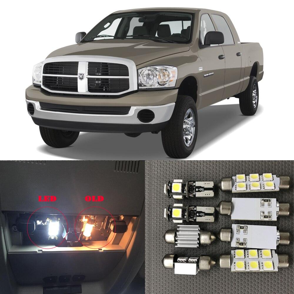 11pcs Canbus White LED Light Bulbs Interior Package Kit For 2003-2008 Dodge Ram 1500 2500 3500 12V Map Dome License Plate Lamp
