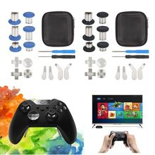 For XBOX One Elite Gamepad Full Set Replacement Bumper Trigger Button Paddles Contrller Replacement Thumbstick Joystick Caps