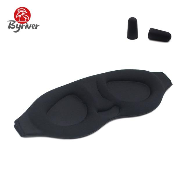 BYRIVER Memory Foam 3D Sleeping Eye Mask Soft For Men Women Soft Portable Blindfold Black Travel Relaxing Eyeshade Eyepatch