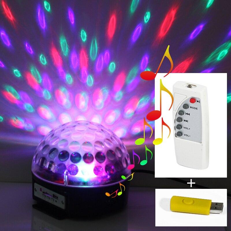 EU US Led 6 3W Channel DMX512 Control Digital LED DJ RGB Crystal Magic Ball Effect