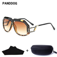 PANDDOG Unique Design Women Men Leopard Print Black Sunglasses Uv400 With Glasses Case And Cloth YWFDY97238
