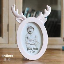 6 inch cute cartoon rabbit ears cat deer horn creative photo frame baby