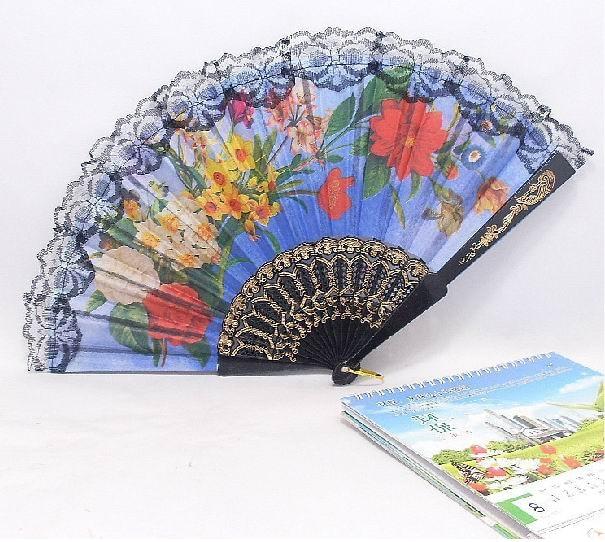 משלוח חינם 120pcs / lot ספרדית בסגנון פלסטיק מאוורר יד עבור קישוט הבית או כמו מתנה לחתונה טובה