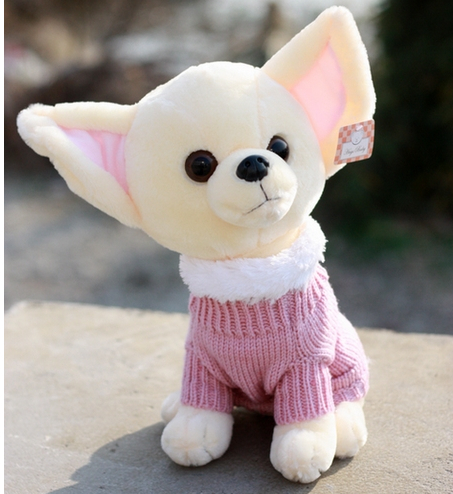Free Shipping 22cm Special Pacify Sweet Chihuahua Dog Plush Animal