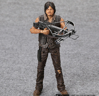 AMC TV Series The Walking Dead Daryl Dixon With Weapon PVC Action Figure Collectible Model Toy