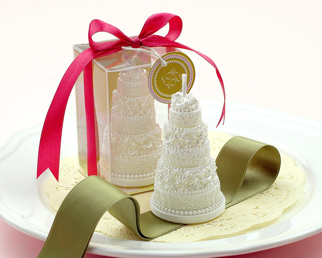 Elegant wedding cake shaped candle wedding bridal shower party favor elegant wedding cake shaped candle wedding bridal shower party favor gift guest present valentines day junglespirit Gallery