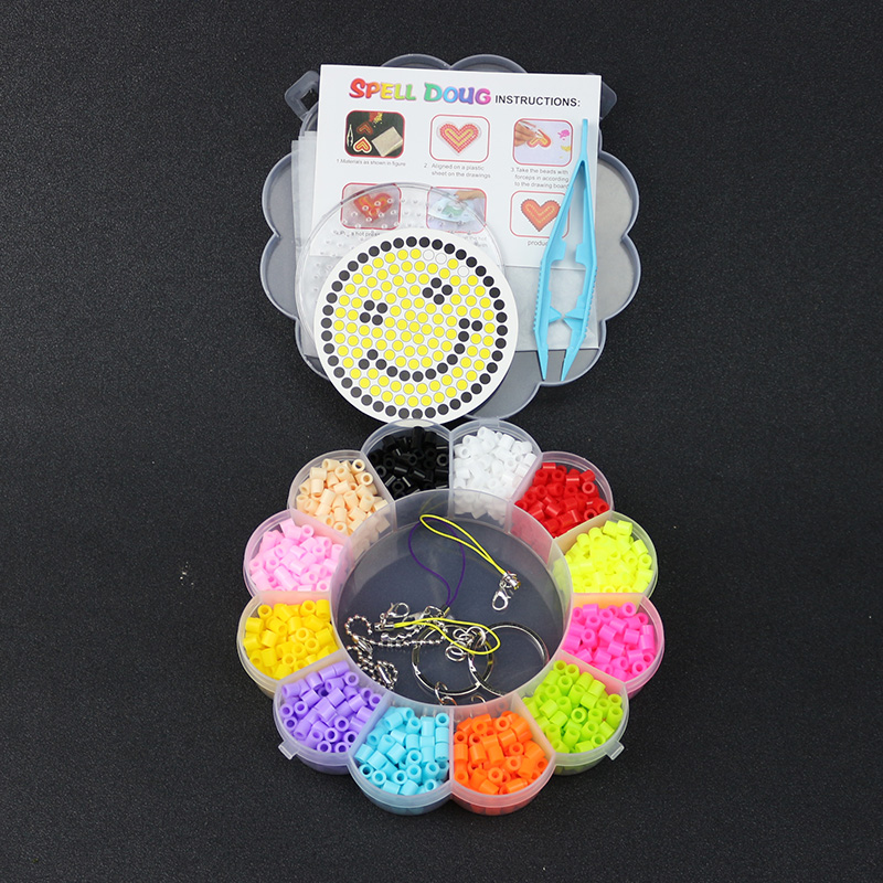 12 Colors Perler Beads Ironing Beads 5mm Hama Beads Fuse Beads With Box Tweezers Pegboard Jigsaw Puzzle Diy Crafts Toys GYH