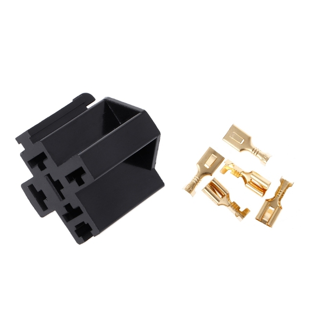 40A 5 Pin Relay Connector Socket with 5 x 63mm Terminals Car Truck