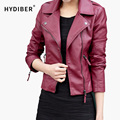 2015 New Short PU Leather Jacket Women Black PU Plus Size Coat Fashion Coat z2