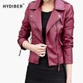 2015 New Short PU Leather Jacket Women Black PU Plus Size Coat Fashion Coat z2