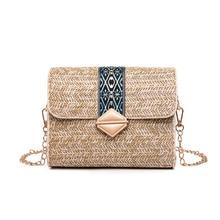 2019 Women Small Rattan Bag Luxury Designer Beach Straw Handbags New Summer Lady Totes Crossbody Bags over Shoulder sac a main