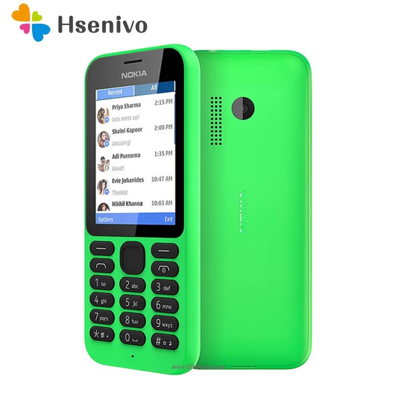 215 double Sim Original Nokia 215 double carte sim 2G GSM 1100 mAh débloqué téléphone cellulaire pas cher remis à neuf