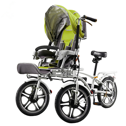 Us 1598 4 20 Off 16 Inch 3 Wheels Mother Baby Stroller Pushchair Folding Bicycle Carrier Mother Baby Tricycles 1 Seat For Baby 1 Seat For Adult In