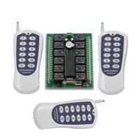315MHZ 433MHZ Electric Door Garage Door DC 12V 24V 12CH RF Wireless Remote Control Switch Security
