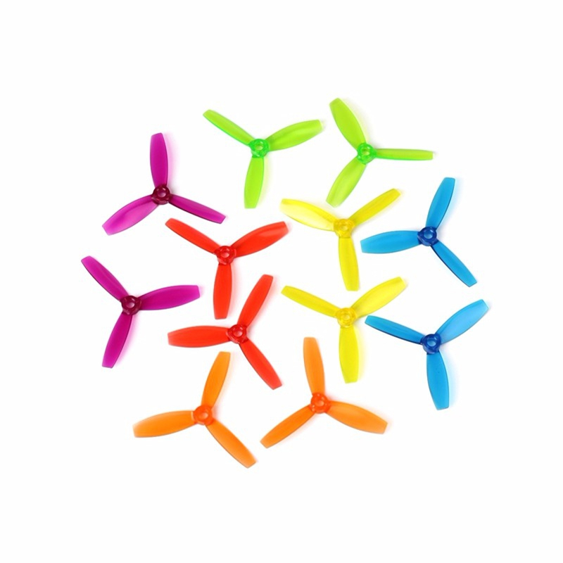 1 Pair DYS <font><b>3045</b></font> 3 Inch 3 Blade <font><b>Propeller</b></font> Triblade Bullnose Prop Red Orange Yellow Green Blue Purple For RC Drones Quadcopter DIY image