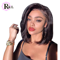 RULINDA Human Hair Short Bob Wigs For Black Women Brazilian Remy Hair Lace Front Human Hair