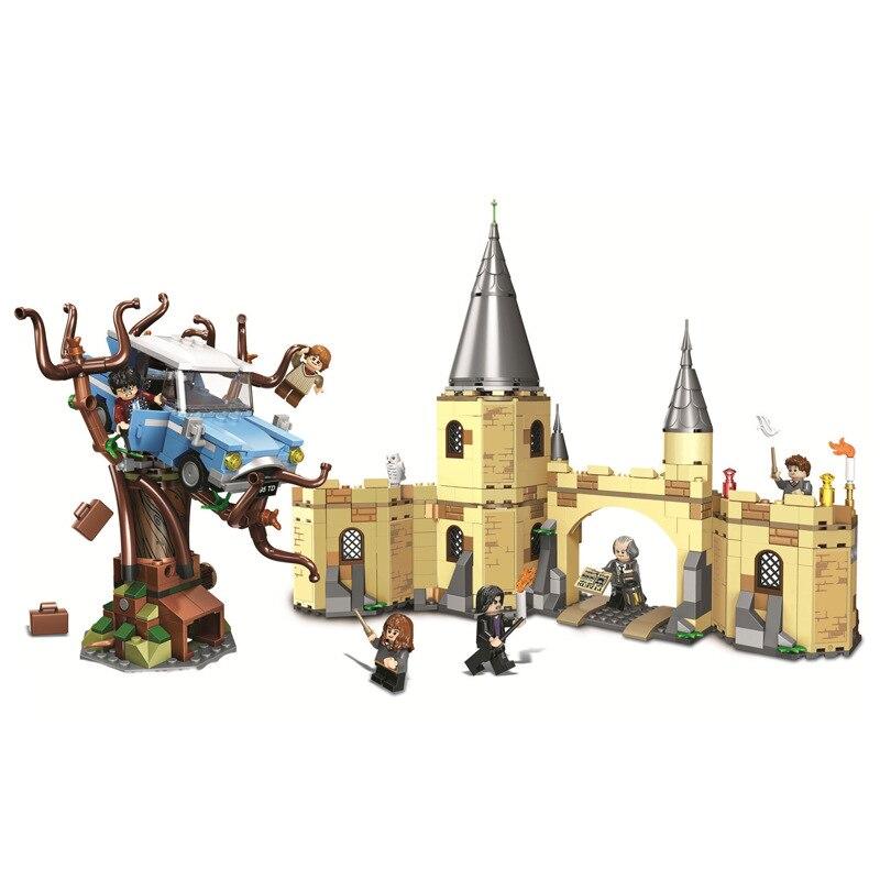 AIBOULLY 11005 Harry magia Potter Hogwarts Castillo Compatible 71043 bloques de construcción ladrillos juguetes educativos para niños