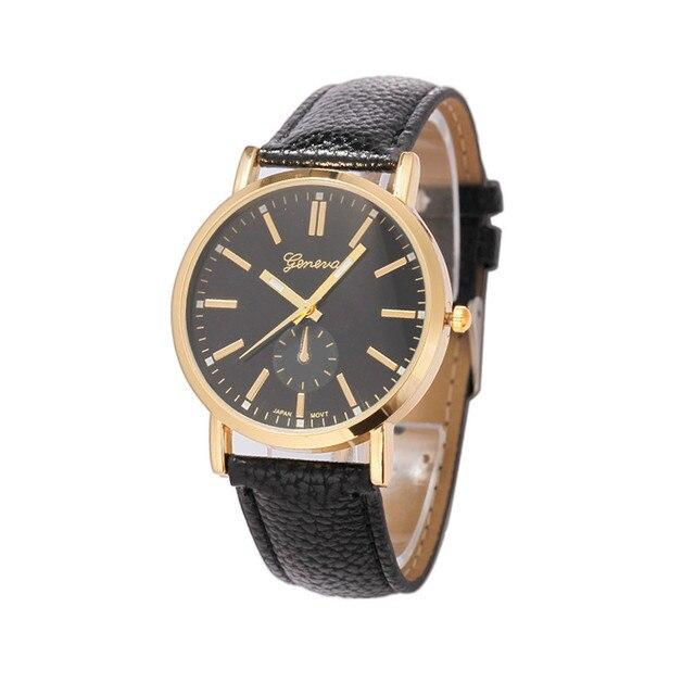 deb93d490488 Moda FHD reloj casual mujer hombre unisex relojes fause cuero Band analog cuarzo  reloj Relogio reloj