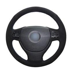 Protector de ante de punto negro de mano para volante de coche, para BMW F10, F07 (GT), 2003-2012, F11 (Touring), 2007-2013, F01, F02, 2009-2016