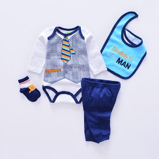 61b386dfb56c6 2019 style animal bébé vêtements ensembles coton infantile garçon vêtements  nouveau-né fille 4 pièces