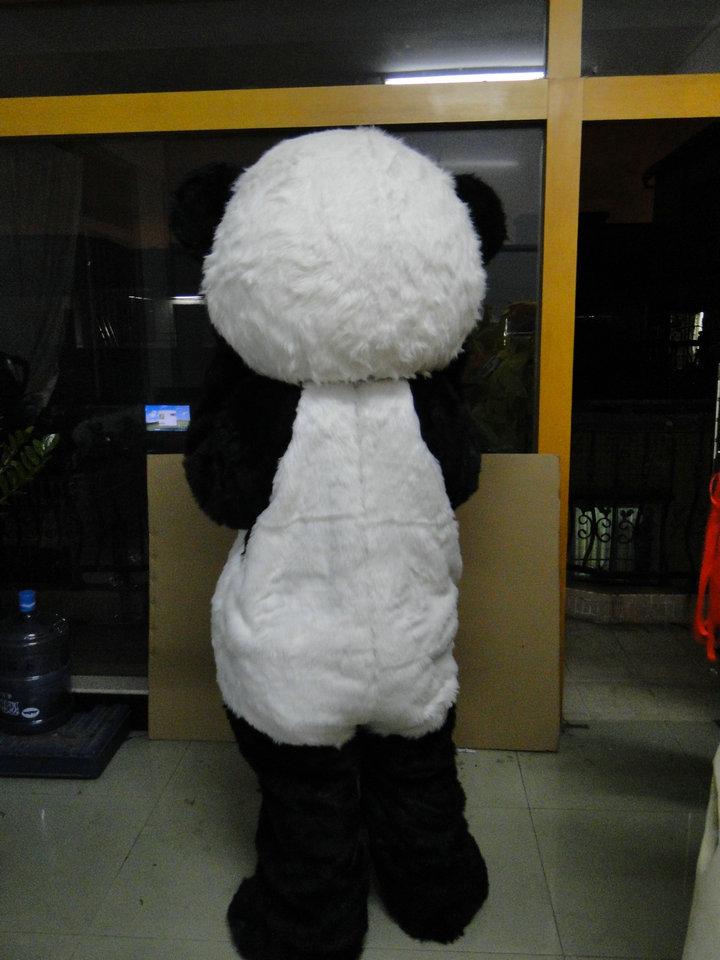 Panda Mascot Costume Cizgi filmi Panda sürətli göndərmə üçün - Karnaval kostyumlar - Fotoqrafiya 4