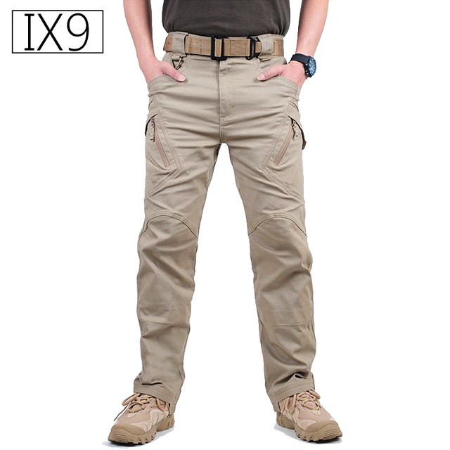 TAD IX9 Militar Tactical Cargo Outdoor Pants Men Combat SWAT Army Training Military Pants Cotton Hunting Outdoors Sport Trousers 农夫 山泉
