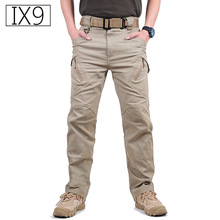 TAD IX9 Militar Tactical Cargo hiking Pants Men Combat SWAT Army Training Military Pants Cotton Hunting Outdoors Sport Trousers