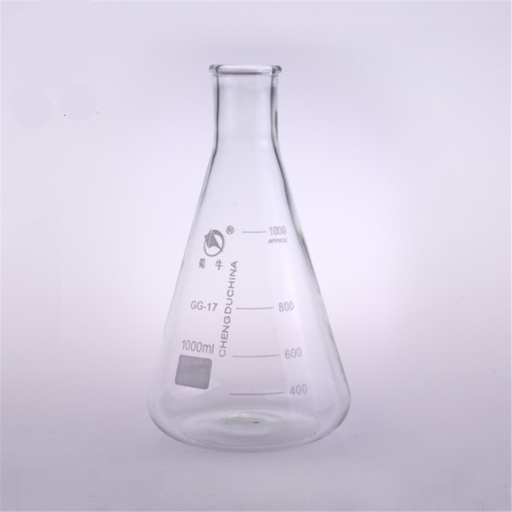 1000ml,Glass Erlenmeyer Flask,Glass Conical Flask,Narrow Neck ,Laboratory Glassware
