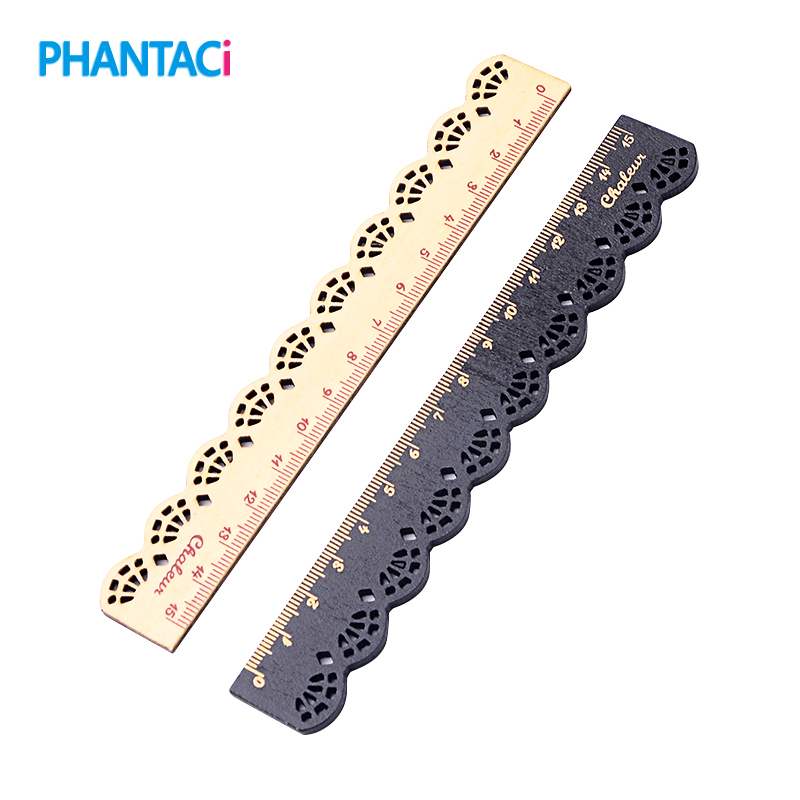 1 Pcs Long 15 Cm Kawaii Cute Stationery Lace Wood Ruler Sewing Ruler Office School Stationery Supplies Scale Straight Ruler