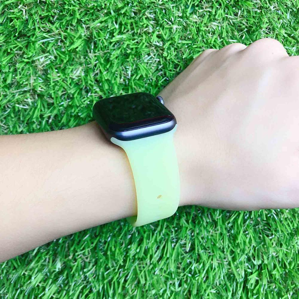 Transparent Silicone Band For Apple Watch 42mm 38mm 44mm 40mm Rubber Bracelet Watchbands Sport Straps Iwatch 5 4 3 2 1 Wristband