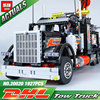 Lepin 20020 Technic Mechanical Ultimate Series The American Style Heavy Container Trucks Set 8285 Building Blcoks
