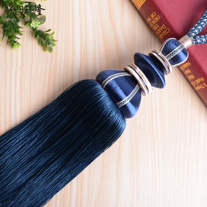 XWL 2Pcs Curtain Hanging Ropes Tassel Fringe Tieback Curtain Accessories Brush Tower Decorative Straps Buckle Clasp
