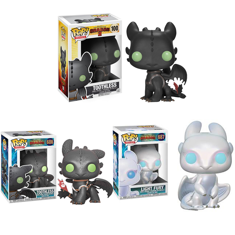 Funko POP Toothless How To Train Your Dragons Night Fury Toy 10cm Pvc Action Figure Collectible Model Toy