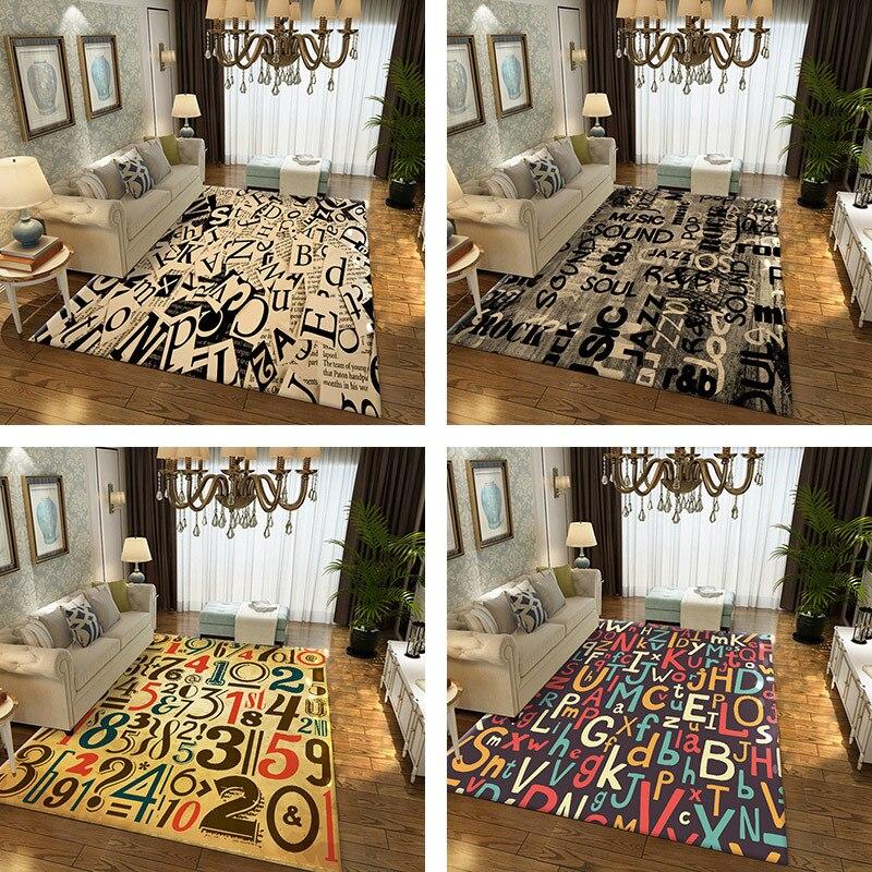 Tapis géométrique nordique personnalisé mode créative salon Rectangle tapis et tapis moderne simple canapé table basse tapis tapete
