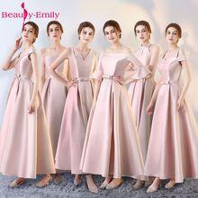 Beauty Emily Sexy Long Stain Evening Dresses 2019 A-Line Party Occasion Women Girl vestido de noite Prom