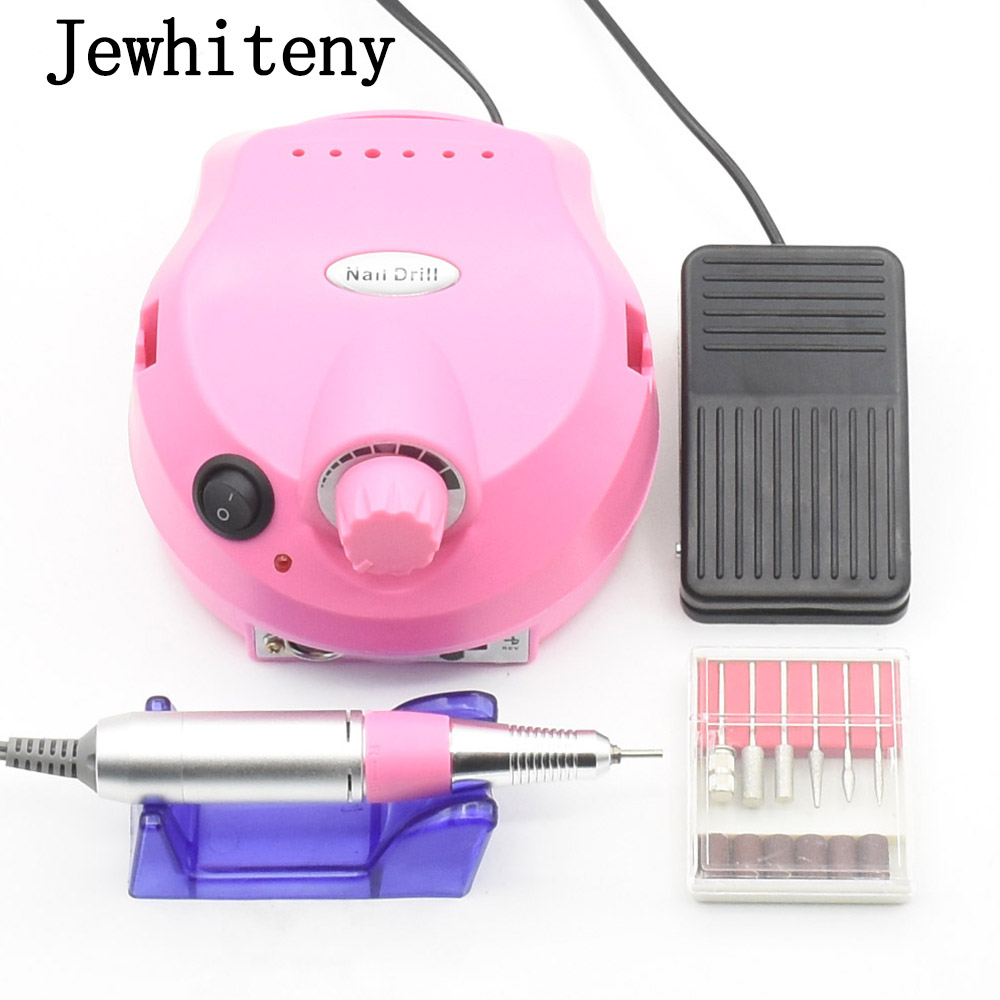 35000RPM Pro Electric Nail Drill File Bit Machine Manicure With Upgraded Version Silicone Case Anti-scald Handle Manicure Kit 9pcs set electric manicure professional drill nail file bit manicure machine electric file 26000rpm includes 6pcs nail drill