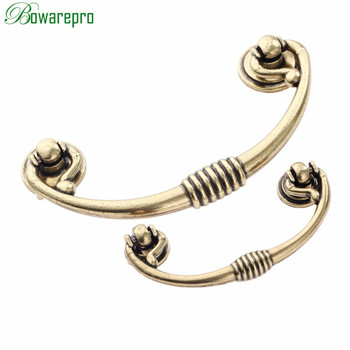 bowarepro Antique Furniture Handles Cabinet Knobs and Handles Drawer Door Pull Cupboard Handle Kitchen Knob Fittings 6496mm 1PC