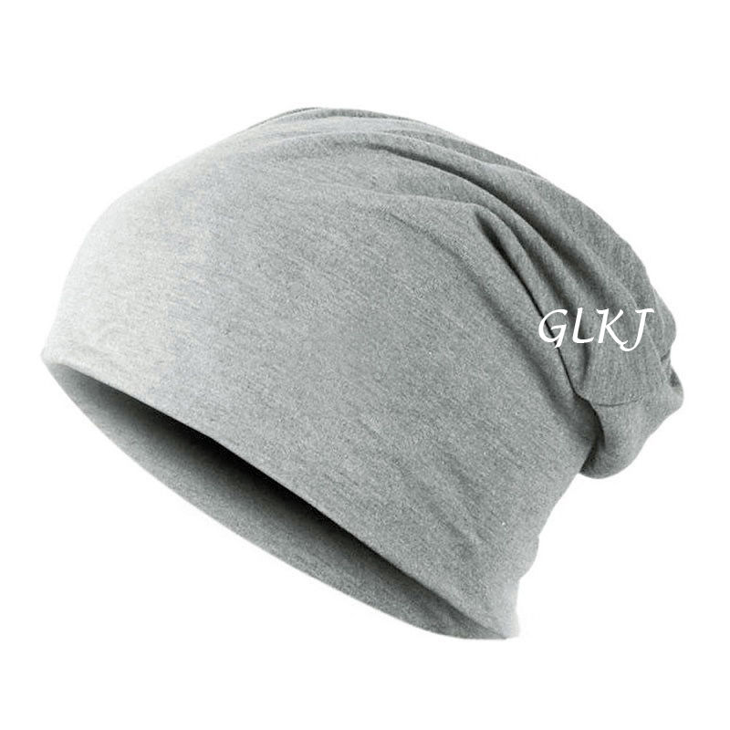 Warm Winter Beanies-Hats Caps Knitted Cotton Unisex Fashion Women Solid with Seven-Style