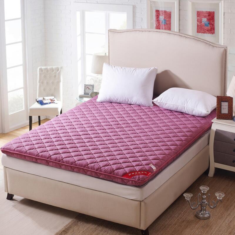 Lit matelas Tatami Pad draps Double/lit simple coussin surmatelas doux confortable respirant lit matelas King Size 6 cm