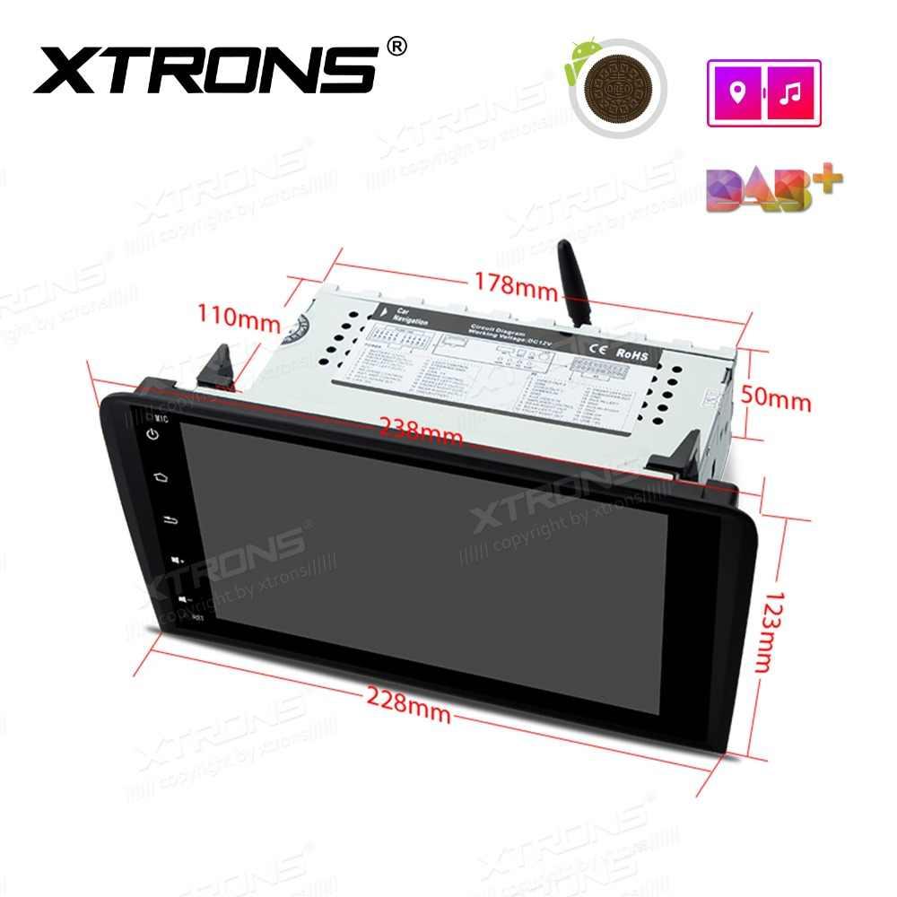 XTRONS 8 ''アンドロイド 8.1 車プレーヤーラジオ GPS RDS OBD NO DVD アウディ A3 2003 2004 2005 2006 2007 2008 2009 2010 2011 2012 S3 RS3