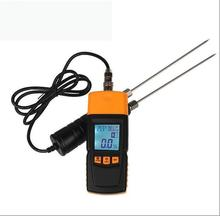 Hay Wood Sawdust Powder Moisture Meter Humidity Detector Tester Portable Hygrometers LCD 2% to 70% XZB-620 tk100w wood sawdust powder meter hay bale bamboo powder moisture fiber tester bv196 sd