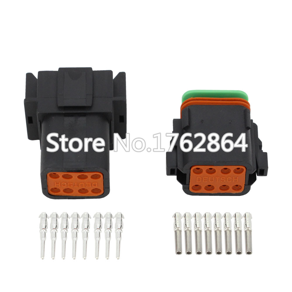 все цены на Black DJ3081Y-1.6-11/21 Deutsch Connectors 8 Pin DT04-8P/DT06-8S waterproof wire electrical connector plug 22-16AWG