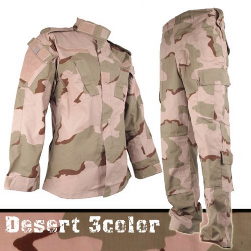 CQC Airsoft Tactical Camouflage Army Military BDU Uniform Combat Shirt & Pants Set Outdoor Paintball Hunting Training Clothing