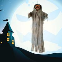 Halloween Pumpkin Ghost Sound Control Lamp Halloween Party Decoration Hanging Ghost