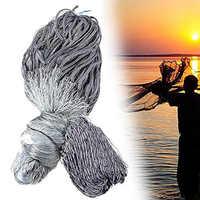 Filet de pêche finlandais à la main filet maillant Monofilament Monofilament réseau de poissons maille collante attraper 25-60mm maille de santé 1.8M * 30M