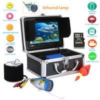 MAOTEWANG 7 дюймов 1000TVL рыболокатор DVR рекордер Водонепроницаемый рыболовный видео подводная рыболовная камера 12 шт. светодиодный инфракрасный