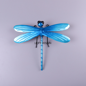 Image 3 - Metal Dragonfly Fairy Wall Decoration for Garden Decoration Outdoor Accessories Sculpture in Miniature Garden Statues